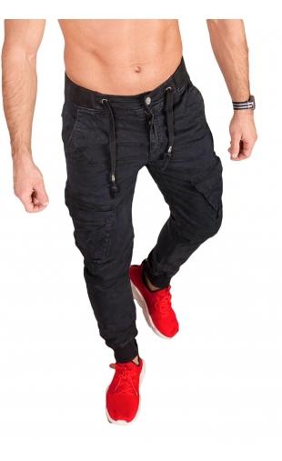 Spodnie joggery grafitowe 6008-2