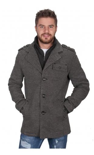 Płaszcz zimowy jodełka 2211