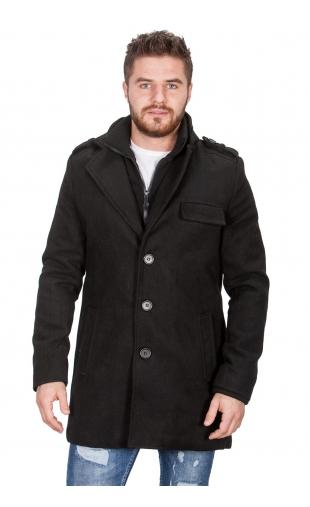 Płaszcz męskie czarny 9541