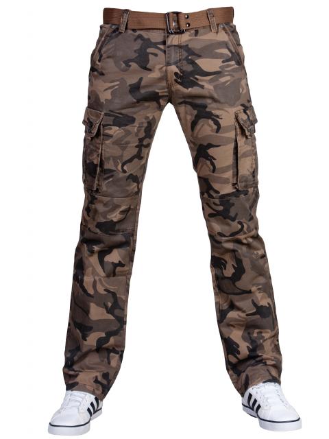 Spodnie bojówki moro + pasek 2096 2