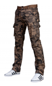 Spodnie bojówki moro + pasek 2096-2
