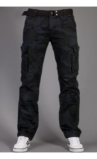 Spodnie bojówki moro + pasek 2096-1