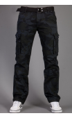 Spodnie bojówki szare moro + pasek 2096-1