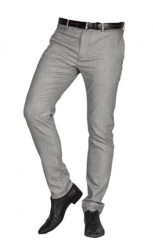 Spodnie szare w krate frappoli 11-48