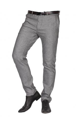 Spodnie szare w krate frappoli 11-25