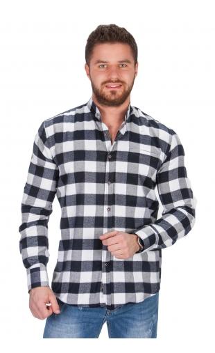 Koszula flanelowa stójka w kratę bb