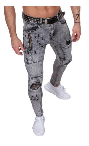 Spodnie jeansowe szare ka800