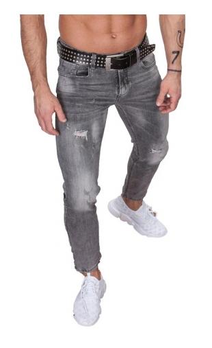 Spodnie jeansowe szare ka895