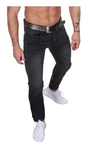 Spodnie jeansowe czarne by-2223