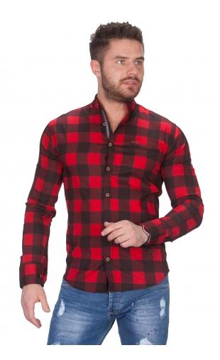 Koszula w krate ze stójką 0168