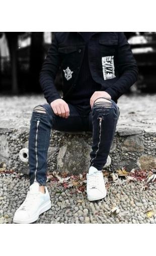 Spodnie Jeansowe czarne denim 6