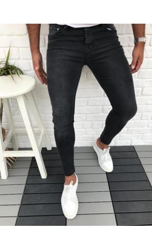Spodnie Jeansowe czarne denim 12