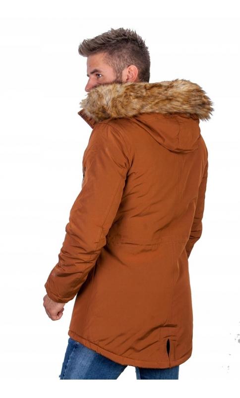 Kurtka męska zimowa ruda parka 5870