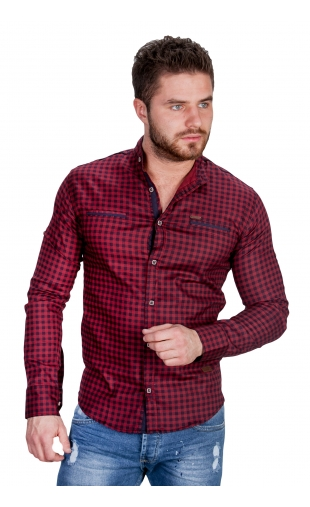 Koszula w krate ze stójką 0146