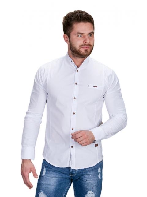 Koszula biała ze stójką 0212