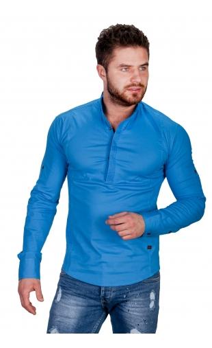 Koszula niebieska ze stójką Fly