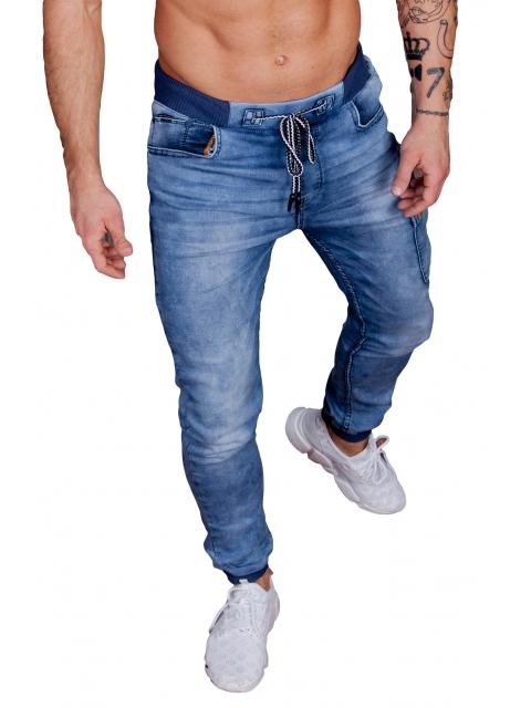 Spodnie Jeansowe joggery T871