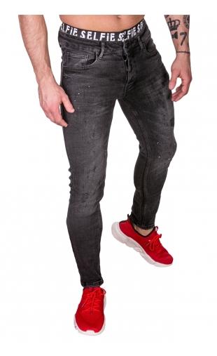 Spodnie Jeansowe szare rurki dł. 32 2591-1