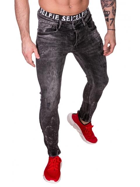 Spodnie Jeansowe czarne rurki dł. 32 2591-2