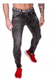 Spodnie Jeansowe szare rurki dł. 32