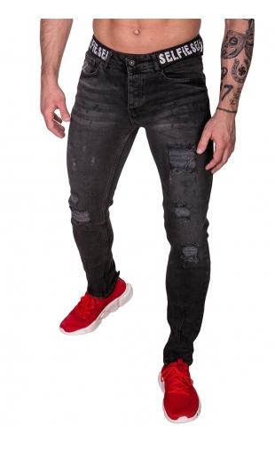 Spodnie Jeansowe czarny rurki dł. 32