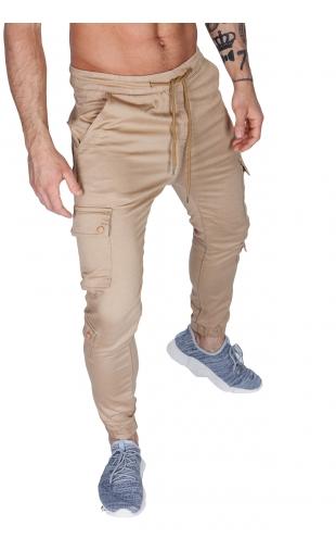 Spodnie joggery beżowe dh-2674