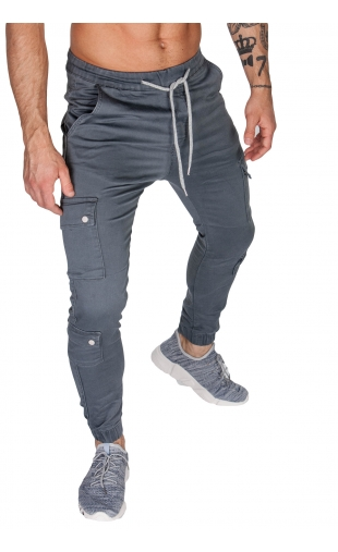 Spodnie joggery granatowe dh-2674