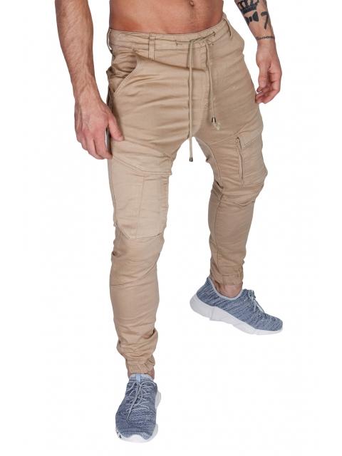 Spodnie joggery beżowe house