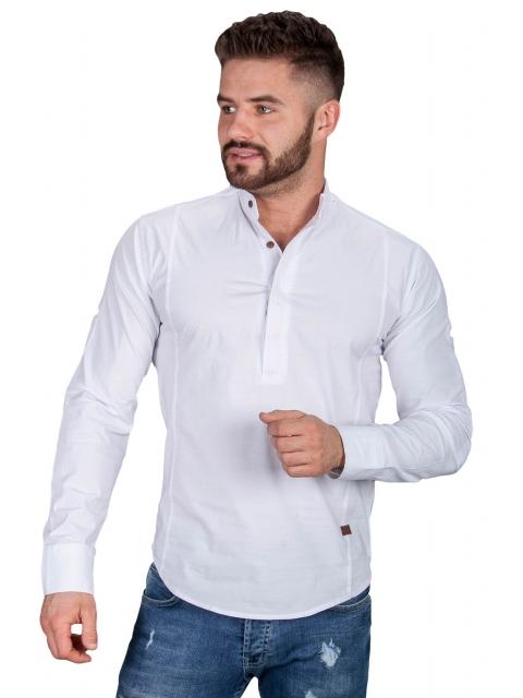 Koszula biała ze stójką 0105