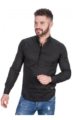 Koszula czarna ze stójką 0105