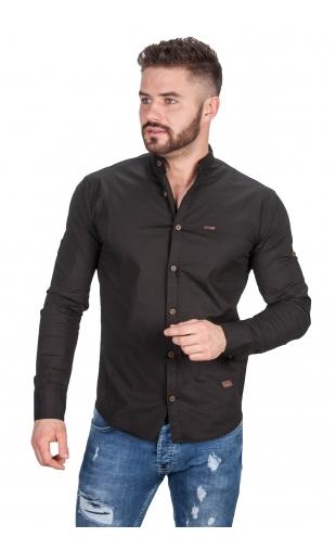 Koszula czarna ze stójką 0134