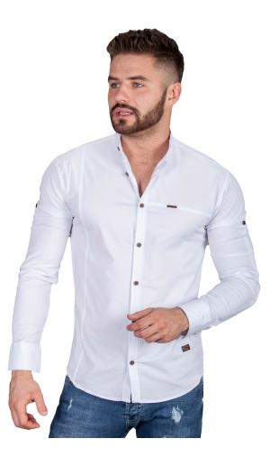 Koszula biała ze stójką 0134