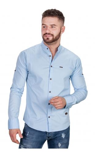 Koszula błękitna ze stójką 0134