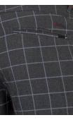 Spodnie wizytowe grafitowe w kratę 2001