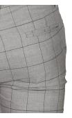 Spodnie wizytowe szare w kratę P-20