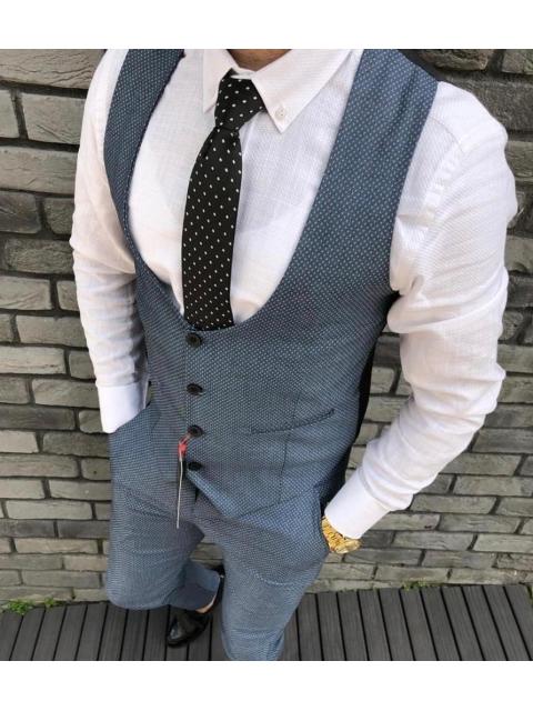 Spodnie wizytowe w kratę K-5