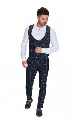 Komplet kamizelka plus Spodnie w kratę K-6