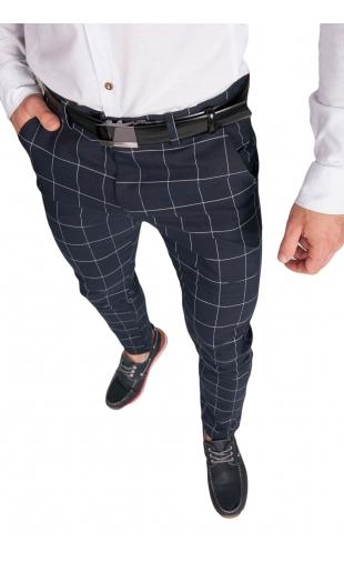 Spodnie wizytowe w kratę K-6