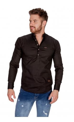 Koszula czarna ze stójką FB 5005