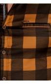 Koszula musztardowa ze stójką w kratę FB