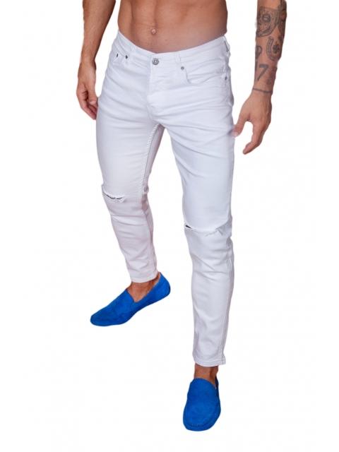 Spodnie Jeansowe białe denim 25