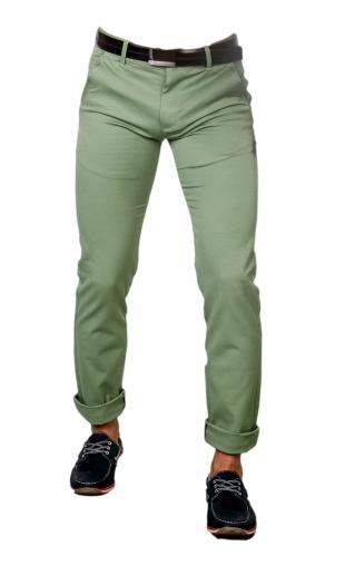 Spodnie wizytowe zielone 1710a promo