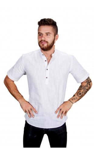 Koszula biała ze stójką FM-1