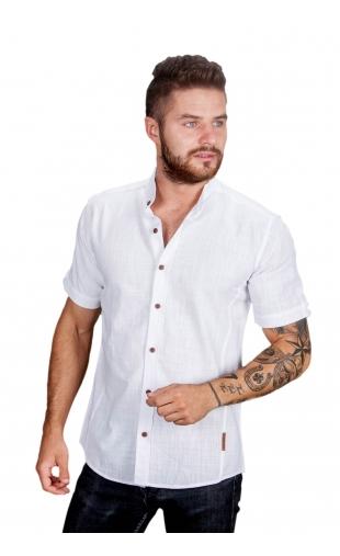 Koszula biała ze stójką FM-2