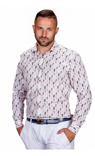 Koszula męska biała wzór ESP-8