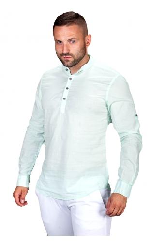 Koszula lniana zielona S.R-1
