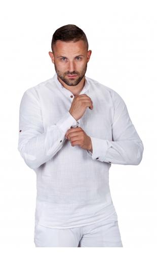 Koszula lniana biała S.R-1