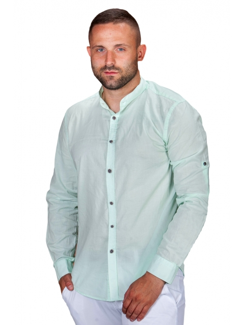 Koszula lniana zielona St.Remo