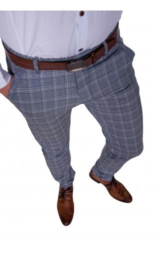 Spodnie wizytowe szare w kratę 2000