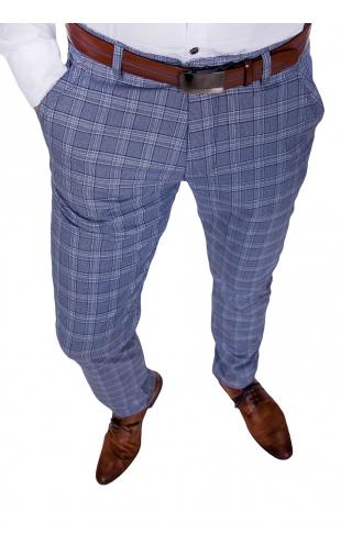 Spodnie wizytowe indygo kratę 2000
